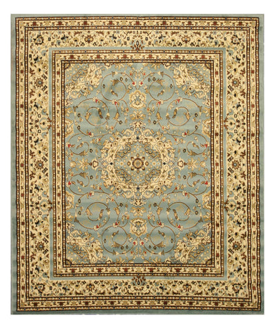 Blue Traditional Oriental Esfahan Rug