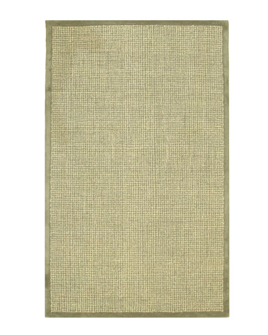 Green Transitional Border Rug