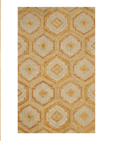 Gold Transitional Geometric Rug
