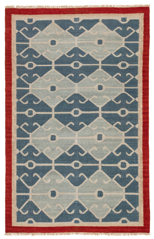 Jaipur Living Sultan Handmade Geometric Blue/ Red Area Rug (9'X12')