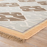 Jaipur Living Sultan Handmade Geometric Gray/ Brown Area Rug