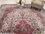 Beige Traditional Lavar Rug, 10'1 x 13'1