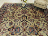Beige Traditional Mahal Rug, 10' x 13'11