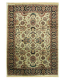Hand-knotted Wool Beige Traditional Oriental Mahal Rug (10' x 13'11)