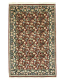 Hand-knotted Wool Red Traditional Floral Pak-Persian Rug (6'1 x 9'4)