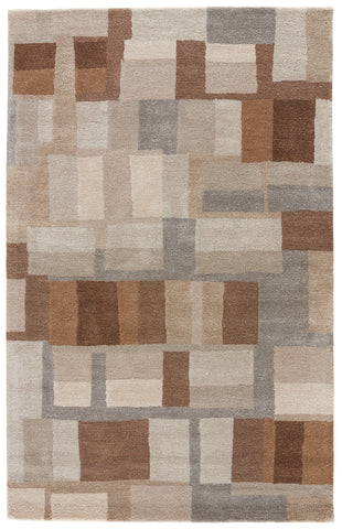 Jaipur Living Adell Handmade Geometric Brown/ Gray Area Rug (9'X12')