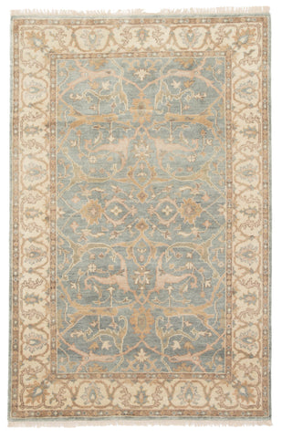 Jaipur Living Shirazi Hand-Knotted Medallion Beige/ Blue Area Rug (2'X3')