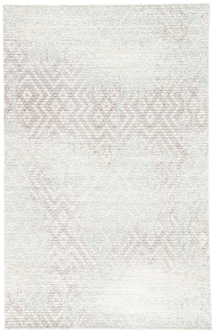 Jaipur Living Stern Geometric Gray/ Blue Area Rug (2'X3')