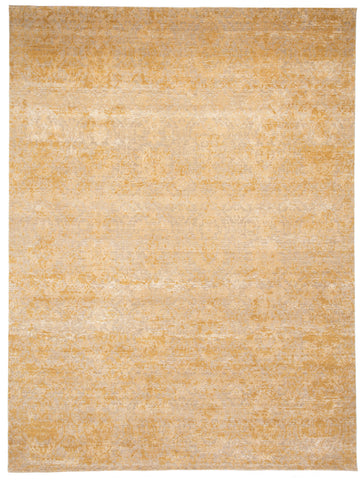 Kavi by Jaipur Living Tir Hand-Knotted Damask Gold/ Beige Area Rug (2'X3')