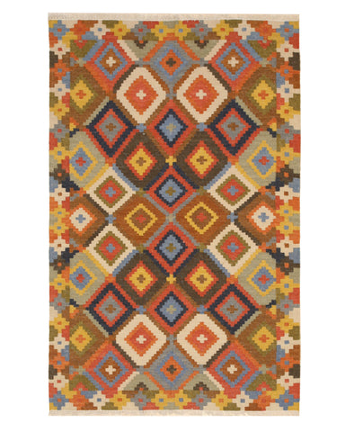 Handmade Wool Traditional Geometric Kilim Rug