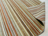 Orange/green Striped Handmade Wool Rug