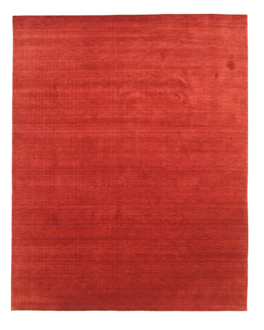 Red Solid Handmade Wool Rug
