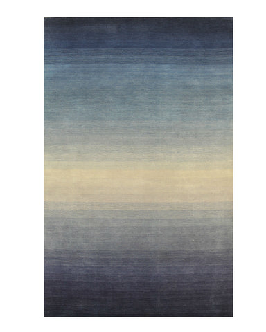 Blue Ombre Handmade Wool Rug