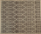 Handwoven Wool Brown   Reversible Killim Rug