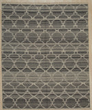 Handwoven Wool Gray Contemporary Geometric Reversible Killim Rug