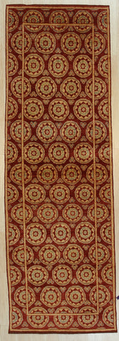 Handmade Afghan Wool Red Trasitional All Over Turkish Knot Rug