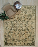 Handmade Afghan Wool Ivory Transitional All Over Turkish Knot Rug