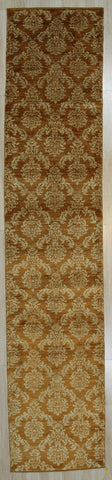 Handmade Afghan Wool Brown Trasitional All Over Turkish Knot Rug