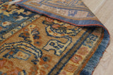 Handmade Mohair Blue Trasitional All Over Angora Oushak Rug