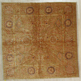 Handmade Mohair Brown Trasitional All Over Angora Oushak Rug