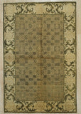 Handmade Mohair Beige Transitional All Over Ningxia  Rug