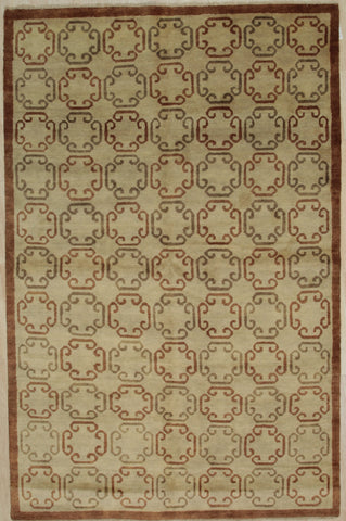 Handmade Wool Brown Transitional All Over Ningxia  Rug