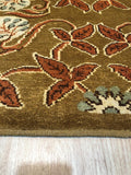 Handmade Mohair Rust Transitional All Over Ningxia  Rug
