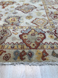 Handmade Mohair Ivory Transitional All Over Ningxia  Rug