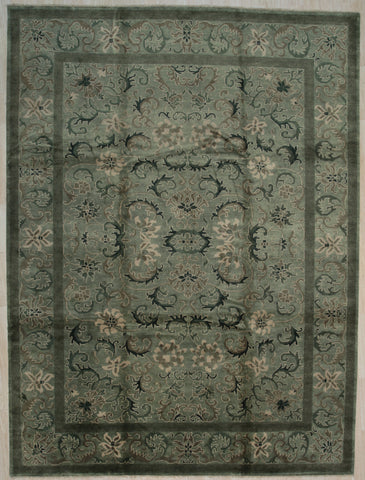 Handmade Wool Grey Transitional All Over Ningxia  Rug