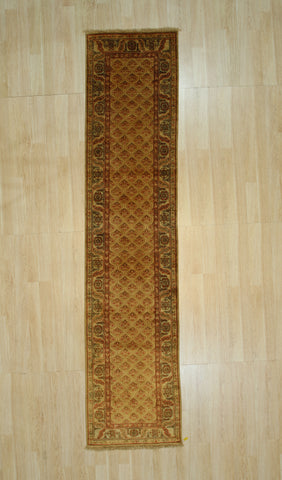 Handknotted Wool Brown Traditional Floral Heriz Weave  Rug