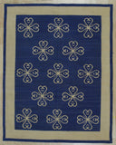 Blue Contemporary Modern Flat Weave Rug, 6' x 8'