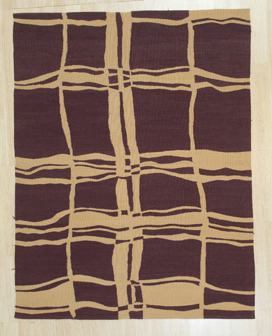 Handwoven Wool Purple Contemporary Modern Modern Flat Weave Rug