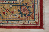 Handmade Wool Red Traditional All Over Oushak Rug