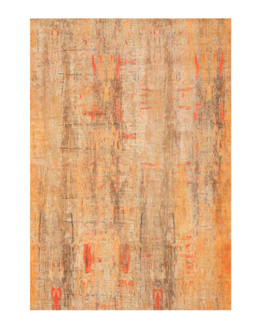 Gold Distressed Bohemian Moderno Art Rug
