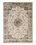 Ivory Distressed Bohemian Isabella Medallion Rug