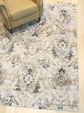Ivory Transitional Distressed Bohemian Isabella Rug