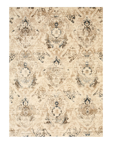 Ivory Distressed Bohemian Isabella Rug