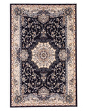 Navy Blue Traditional Tabriz Medallion Rug
