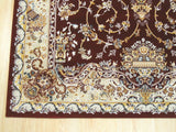 Red Traditional Tabriz Medallion Rug