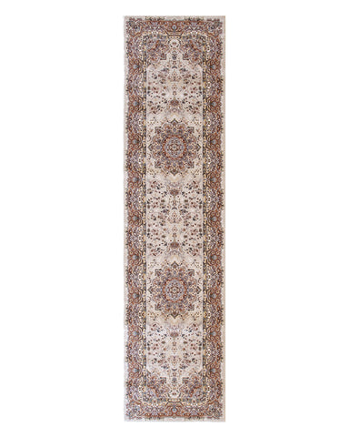 Beige Traditional Tabriz Rug
