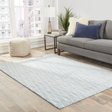 Jaipur Living Tangled Handmade Geometric Blue/ White Area Rug
