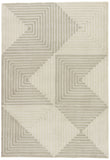 Jaipur Living Tegan Handmade Geometric Gray/ Cream Area Rug (9'X12')