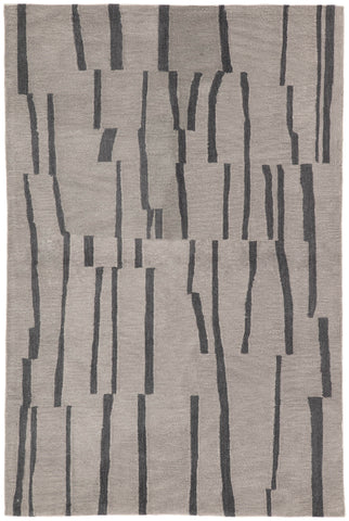 Jaipur Living Sola Handmade Stripe Light Gray/ Dark Gray Area Rug (2'X3')