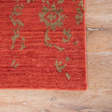 Jaipur Living Scroll Hand-Knotted Damask Red/ Brown Area Rug