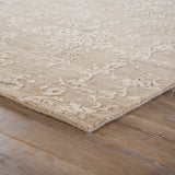 Jaipur Living Scroll Hand-Knotted Damask Beige/ Taupe Area Rug