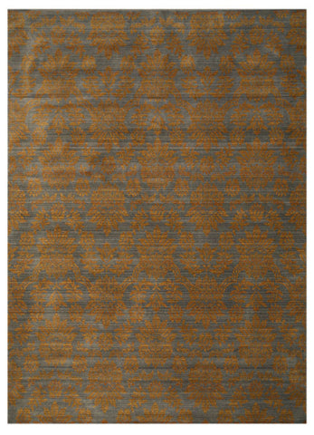 Blue Transitional Floral Himalaya Area Rug