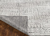 Hand Knoted Wool Ivory   Transtional High-Low Rug