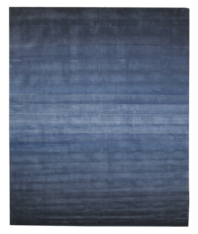 EORC HL2BL Hand-tufted Wool Horizon Rug, 9'6 x 13'6, Blue