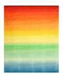 Multicolored Contemporary Rainbow Rug