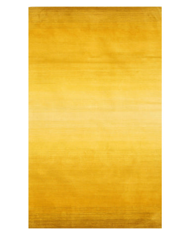 Handmade Wool Yellow Contemporary Solid Horizon Rug